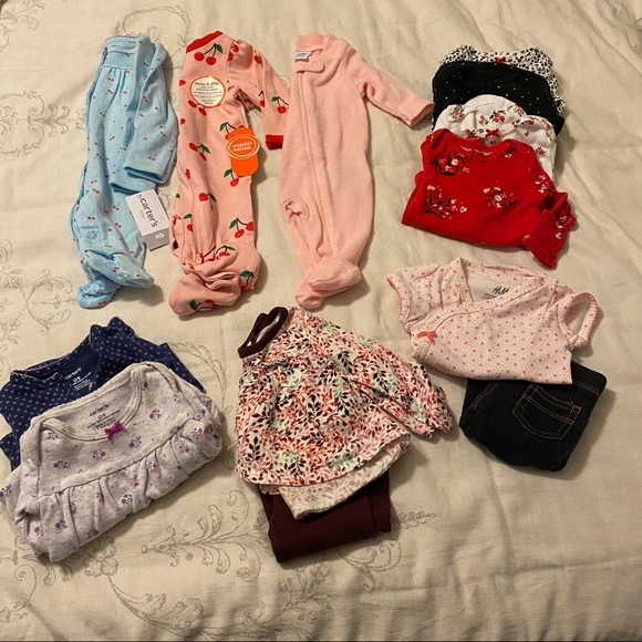 Newborn Baby Girl Bundle Lot of Clothes